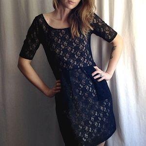 UO Black Lace Formal Dress